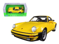 1974 Porsche 911 Turbo 3.0 Yellow 1:24 Diecast Model - Welly - 24043YL