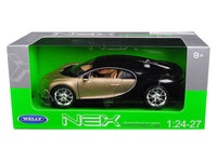 Bugatti Chiron Gold / Black 1:24 - 1:27 Diecast Model - 24077GLD/BK