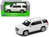 2017 Cadillac Escalade with Sunroof White 1:24 - 1:27 Diecast Model