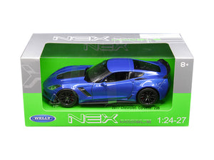 2017 Chevrolet Corvette Z06 Blue 1/24 - 1/27 Diecast Model