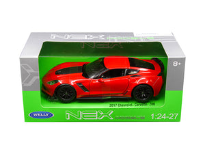 2017 Chevrolet Corvette Z06 Red 1:24 Diecast Model