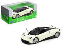 Pagani Huayra Pearl White with Black Top 1:24 Diecast Model