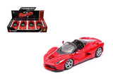 Ferrarai La Ferrari Aperta Red 1:24 Diecast Model Car - Bburago - 26522