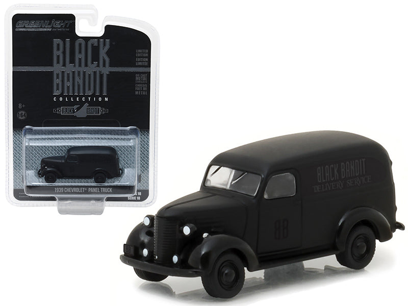 1939 Chevrolet Panel Van Black Bandit 1:64 Diecast Model Description