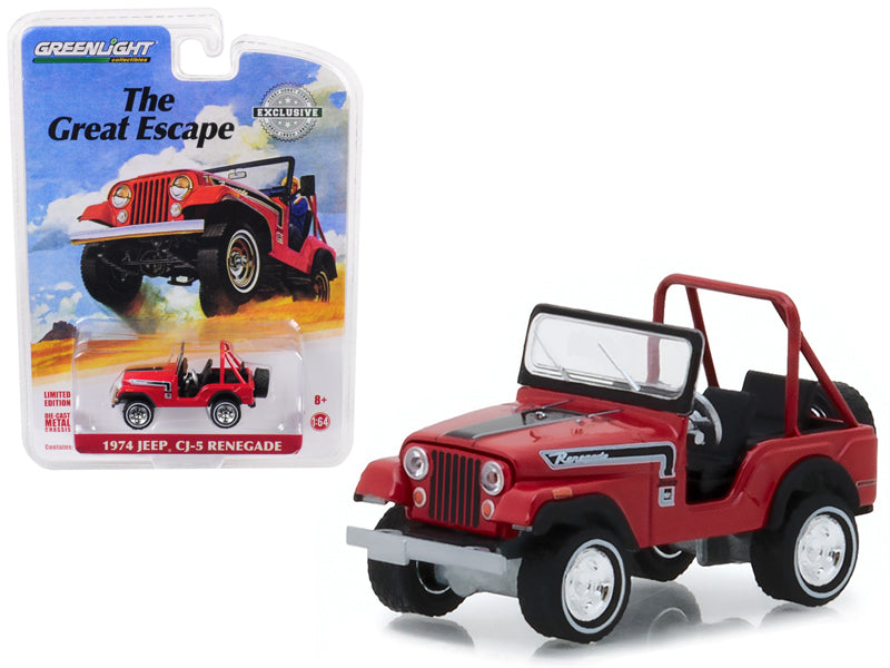 1974 Jeep CJ-5 Renegade Red The Great Escape 1:64 Diecast Model