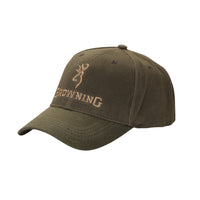 Browning Dura-Wax Ball Cap - Olive - 308412381