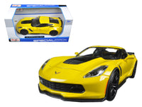 2015 Chevrolet Corvette Stingray C7 Z06 Yellow 1:24 Diecast Model Car - Maisto - 31133YL
