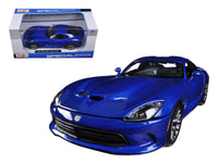 2013 Dodge Viper SRT GTS Blue 1:24 Diecast Model