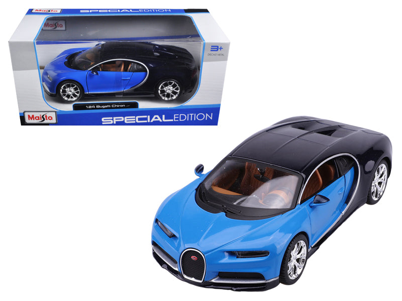 Bugatti Chiron Blue / Dark Blue 1:24 Diecast Model