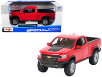 2017 Chevrolet Colorado ZR2 Pickup Truck Red 1:27 Diecast Model