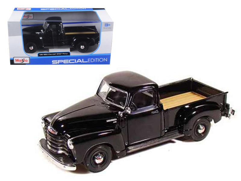 1950 Chevrolet 3100 Pickup Truck Black 1:25 Diecast Model