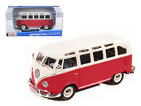 Volkswagen Samba Bus Red 1:25 Diecast Model