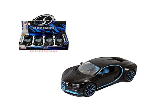 Bugatti Chiron Special 42 Edition Black/ Blue 1:24 Diecast Model *