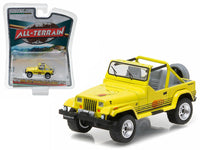 1990 Jeep Wrangler Islander Yellow All Terrain 1:64 Diecast Model