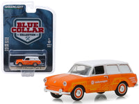 1966 Volkswagen Type 3 Panel Van 1:64 Model - Greenlight Blue Collar Series 5 - 35120C