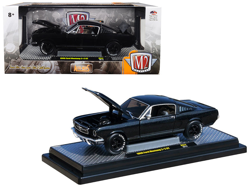 1966 Ford Mustang 2+2 GT Black Pearl Metallic 1:24 Diecast Model