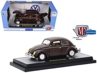 1952 Volkswagen Beetle Deluxe Model Pearl Brown 1:24 Diecast Model