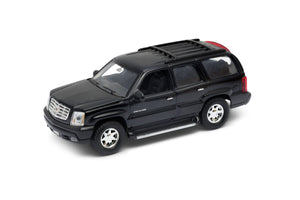 "2002 Cadillac Escalade Black SUV 4.5"" Diecast Model"