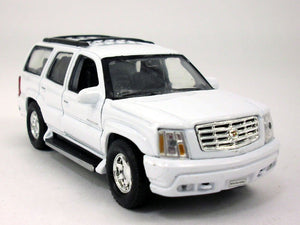 "2002 Cadillac Escalade White SUV 4.5"" Diecast Model"