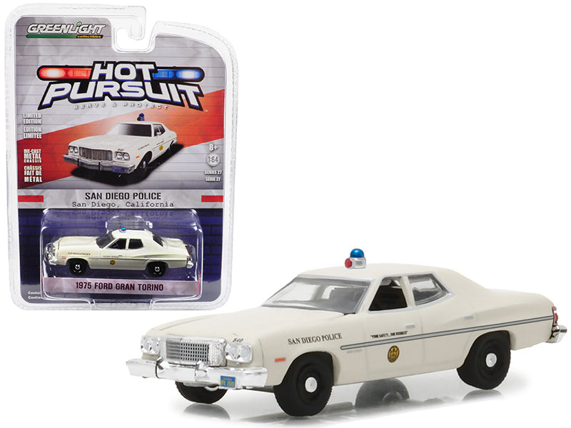 1975 Ford Gran Torino Police San Diego California 1:64 Model