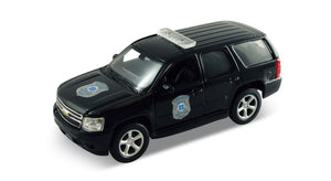 "2008 Chevy Tahoe Police Black 4.5"" Diecast Model"