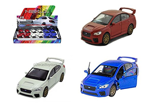 "2015 Subaru WRX STi 4.75"" Diecast Model - 3 PC Set 43693D"