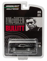 1968 Dodge Charger R/T Bullitt Steve McQueen 1:64 Diecast Model Car - Greenlight - 44741