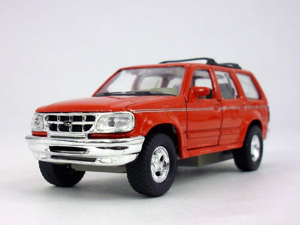 "Ford Explorer Red 4.75"" Diecast Model"