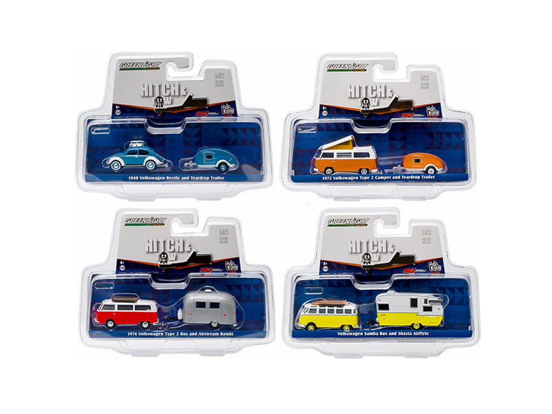 Hitch & Tow V-Dub Assortment Set of Four 1:64 Diecast Model