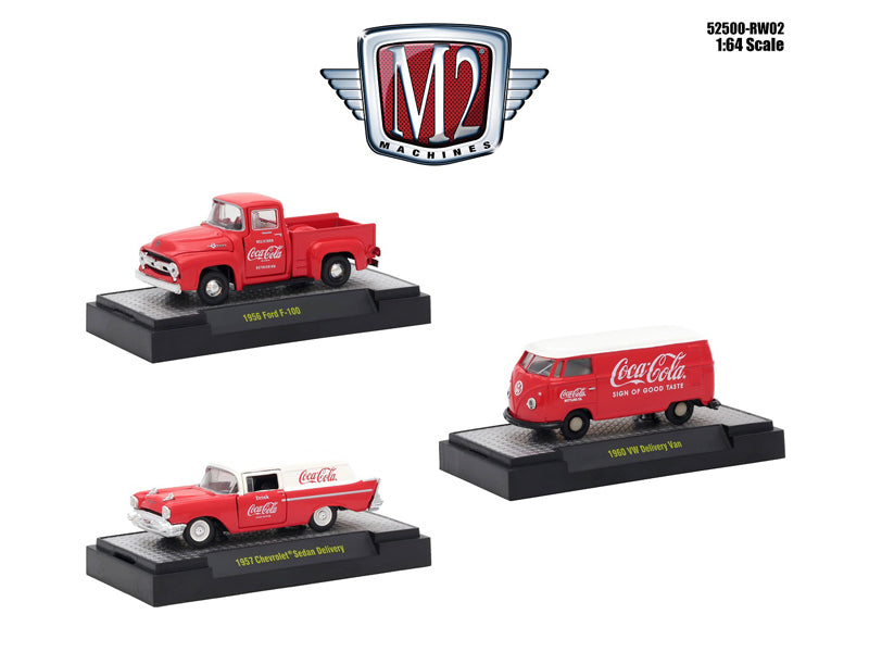 Coca-Cola Release 2 Set of Three 1:64 Diecast Models