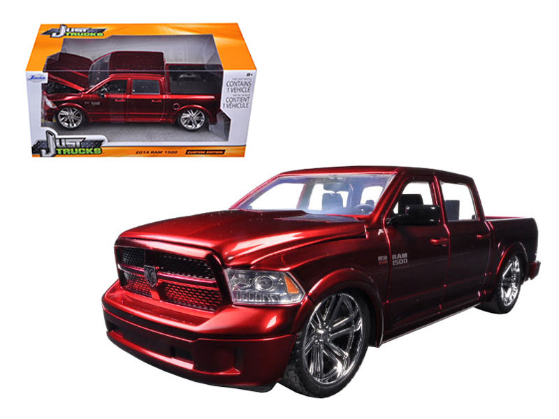2014 Dodge Ram 1500 Pick Up Truck Red 1:24 Diecast Model - 54040r