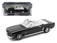 1964 1/2 Ford Mustang Black Convertible 1:18 Diecast Model - 73145BK