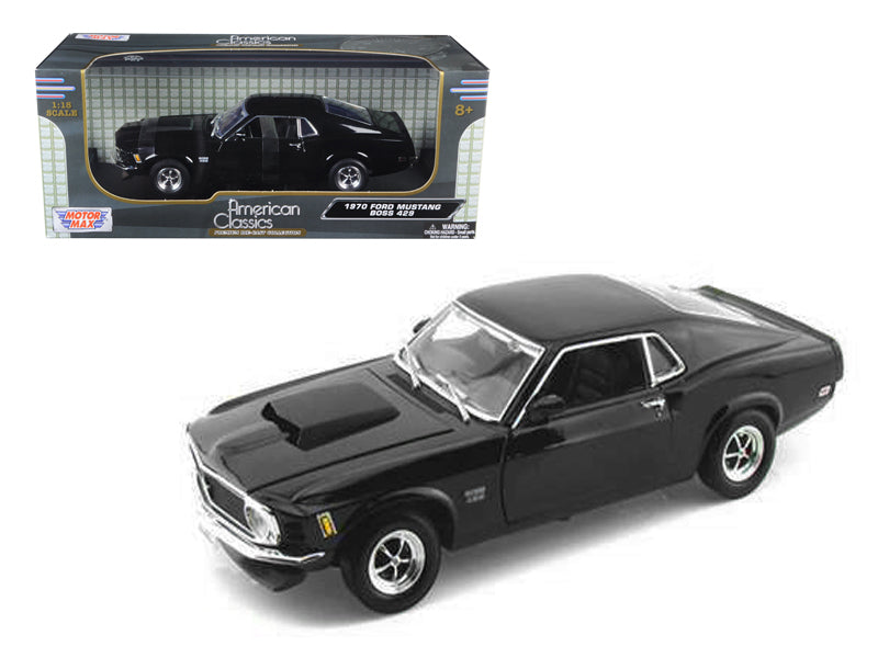 1970 Ford Mustang BOSS 429 1:18 Diecast Model Black - by Motormax - 7315BK