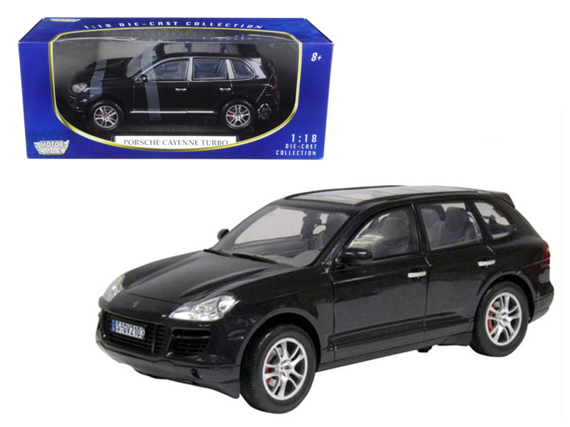 2008 Porsche Cayenne Turbo Metallic Black 1:18 Diecast Model