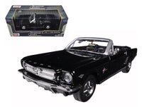 1964 1/2 Ford Mustang Convertible Black 1:24 Diecast Model