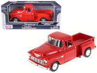 1955 Chevrolet 5100 Stepside Pickup Truck Red 1:24 Diecast Model - 73236R