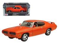 1969 Pontiac GTO Judge Orange 1:24 Diecast Model - by Motormax - 73242OR