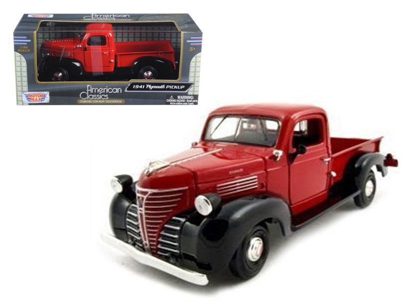 1941 Plymouth Pickup Red 1:24 Diecast Model