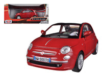 Fiat 500 Nuova Cabrio Red 1:24 Diecast Model