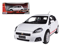 Fiat Grande Punto Abarth White 1:24 Diecast Model