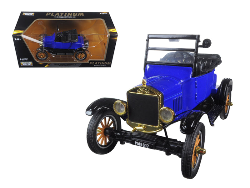 1925 Ford Model T Runabout Blue 1:24 Diecast Model