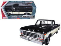 1979 Ford F-150 Pickup Truck Black / Cream 1:24 Diecast Model - 79346