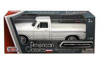 1979 Ford F-150 Pickup Truck 1:24 Diecast Model White - 79346
