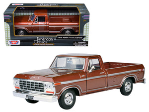 1979 Ford F-150 Pickup Truck Brown 1:24 Diecast Models - 79346BR