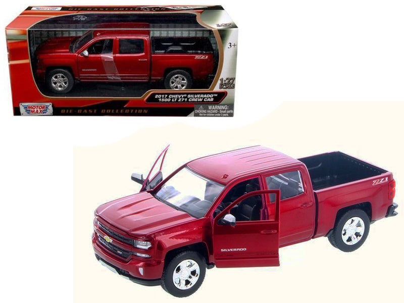 2017 Chevrolet Silverado 1500 LT Z71 Crew Cab Red 1:24 Model - 79348RD