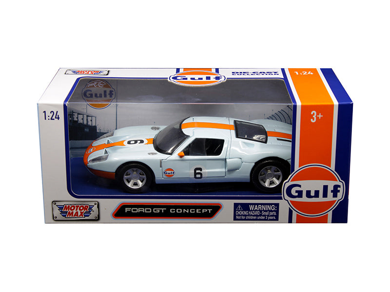 Ford GT Concept Light Blue with Orange Stripe 1:24 Diecast Model