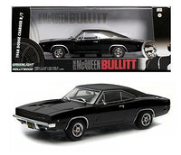 1968 Dodge Charger Black R/T Steve McQueen Bullitt Movie 1:43 Diecast Model Car - Greenlight - 86432