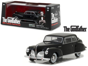 1941 Lincoln Continental Black The Godfather Movie 1:43 Diecast Model