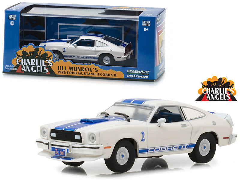 1976 Ford Mustang Cobra II White Charlie's Angels 1:43 Diecast Model