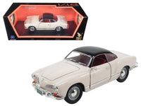 1966 VW Volkwagen Karmann Ghia White 1:18 Diecast Model